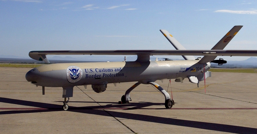 The first U.S. Customs and Border Protection unmanned aerial vehicle in 2004.
