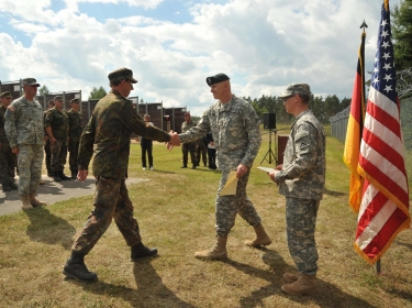 The Joint Multinational Training Command regularly trains U.S. and multi-national soldiers, during sophisticated and complex mission rehearsal exercises throughout Europe