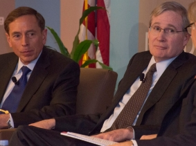 General David Petraeus, Stephen Hadley, and David Ignatius