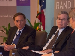 General David Petraeus, Stephen Hadley, and David Ignatius