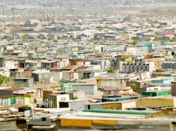 Photo of South African shanty town