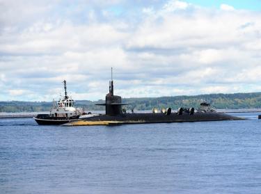 ballistic missile submarine USS Louisiana returns home to Naval Base Kitsap-Bangor