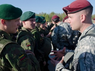 Paratroopers from the 173rd Airborne Brigade training with NATO allies in Poland
