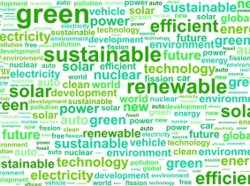 word cloud for environmental sustainability and renewable energy