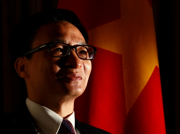 Vietnam's Deputy Prime Minister Vu Duc Dam at an interview with Reuters on May 22, 2014, where he demanded that China withdraw an oil rig off the coast of Vietnam in waters also claimed by Hanoi