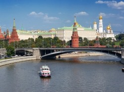 View of Moscow Kremlin and Moscow River, architecture, bridge, capital, center, city, europe, european, downtown, famous, historical, kremlin, metropolis, moscow, moskva, national, old, outdoor, place, red, river, russia, russian, square, state, tradition, traditional, travel, vacation, view, tourism, tourist, sightseeing, site, destination, landmark, cityscape, attraction, water, summer, boat, embankment, tower
