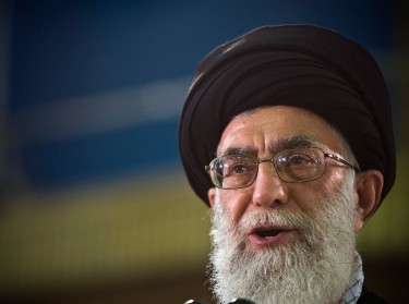 Iran's Supreme Leader Ayatollah Ali Khamenei speaks live on television after casting his ballot in the Iranian presidential election in Tehran June 12, 2009