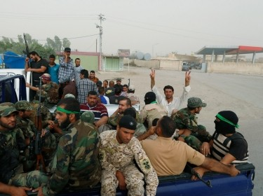 "Followers of radical cleric Muqtada al-Sadr, who fought U.S. troops under the banner of the Mehdi Army during the 2003-11 occupation, have returned as Sadr's new ""Peace Brigades"""