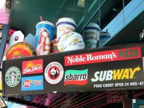 Food court signs in Las Vegas
