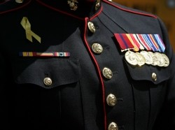 U.S Marine with many medals