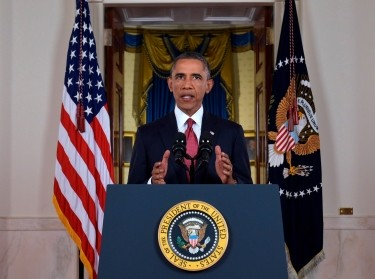 U.S. President Barack Obama delivers a live televised address on his plans for military action against the Islamic State, September 10, 2014