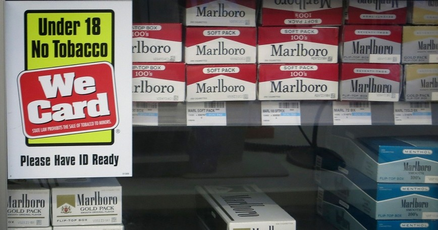 Shelves full of cigarettes at a CVS store in Manhattan, February 5, 2014