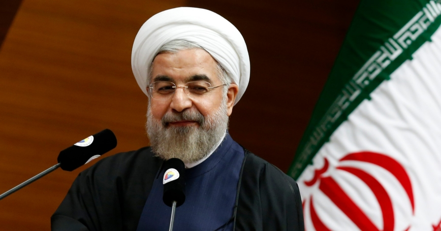 Iran's President Hassan Rouhani during a meeting in Ankara, June 10, 2014