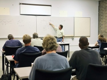 An adult classroom