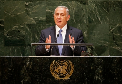 Israel's Prime Minister Benjamin Netanyahu tells the 69th U.N. General Assembly on September 29 that a nuclear-armed Iran would pose a far greater threat to the world th