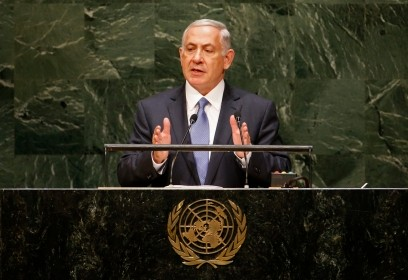 Israel's Prime Minister Benjamin Netanyahu tells the 69th U.N. General Assembly on September 29 that a nuclear-armed Iran would pose a far greater threat to the world than Isl
