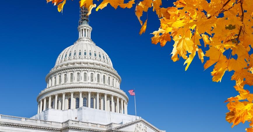 U.S. Capitol in autumn