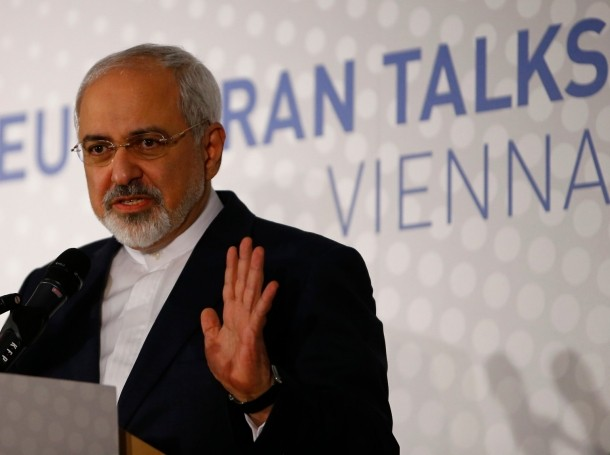 Iranian Foreign Minister Javad Zarif addresses a news conference after a meeting in Vienna, November 24, 2014