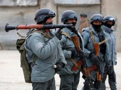 Afghan policemen in Kabul