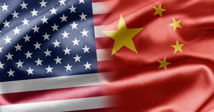 U.S. and China flags