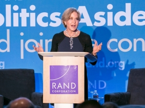 Judith Rodin at RAND's Politics Aside 2014, photo by Alex Cohen/RAND Corporation