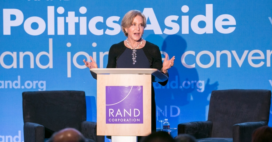 Judith Rodin at RAND's Politics Aside 2014