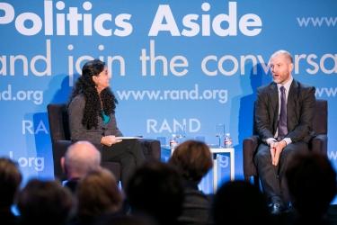Anita Chandra and Cas Holloway at RAND's Politics Aside 2014