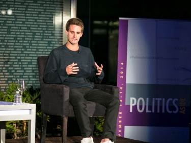 Evan Spiegel at RAND's Politics Aside 2014