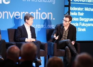 Nicolas Berggruen and Simon Sinek at RAND's Politics Aside 2014