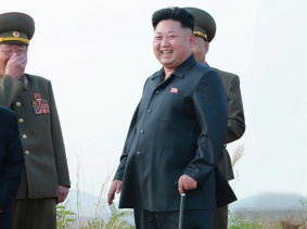 North Korean leader Kim Jong-un guides a takeoff and landing drill on a highway airfield in this undated photo released by North Korea's Korean Central News Agency in Pyongyang, October 19, 2014