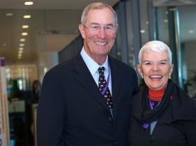 Don and Susan Rice at RAND's Politics Aside 2014