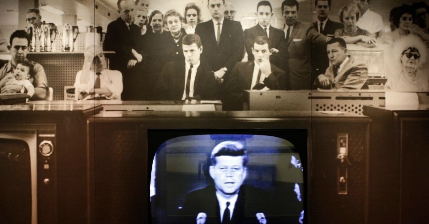 An exhibit on the Cuban Missile Crisis at the John F. Kennedy Library in Boston, December 18, 2014