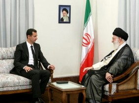 Bashar al-Assad meeting with Iran's Supreme Leader Ayatollah Ali Khamenei in Tehran August 19, 2009