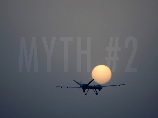 An MQ-9 Reaper remotely piloted aircraft takes off from Joint Base Balad, Iraq