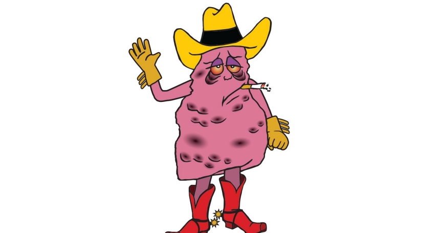 Jeff the Diseased Lung, a tobacco company mascot created by HBO comedy show 'Last Week Tonight'