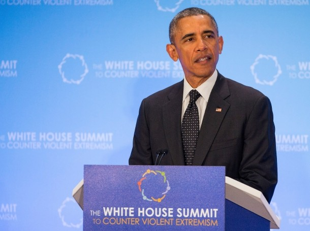 U.S. President Barack Obama speaks during the White House Summit on Countering Violent Extremism February 19, 2015