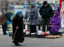 After a year of political upheaval and a war in the East, Ukrainians are facing poverty, with prices rising sharply, the currency crumbling, and a nearly bankrupt state