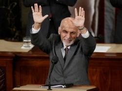 Afghan President Ashraf Ghani while addressing a joint meeting of Congress in Washington, March 25, 2015