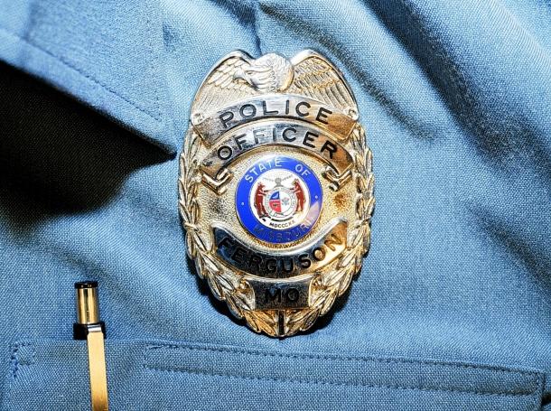 Former Ferguson Police Officer Darren Wilson's badge