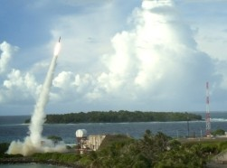 Two Terminal High Altitude Area Defense (THAAD) interceptors are launched during a successful intercept test in September 2013