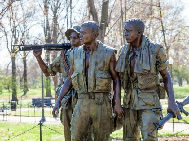 The Three Soldiers statue, Washington, DC