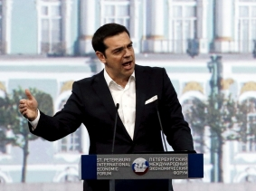 Greek Prime Minister Alexis Tsipras at the St. Petersburg International Economic Forum, June 19, 2015