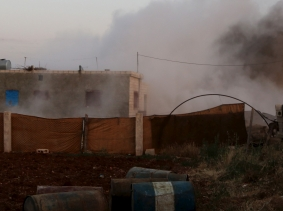 Smoke rises after what activists said were clashes with Islamic State fighters in Soran Azaz, Aleppo countryside June 1, 2015