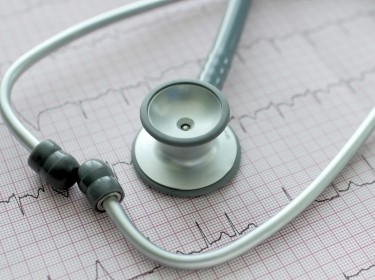 Stethoscope on an ECG
