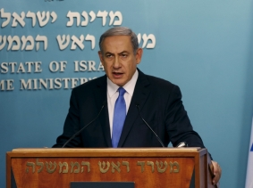 Israel's Prime Minister Benjamin Netanyahu said at a July 14, 2015 news conference that Israel would not be bound by the nuclear deal between world powers and Iran, photo by Ammar Awad/Reuters