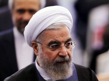 Iranian President Hassan Rouhani at the Asian African Conference in Jakarta, April 22, 2015