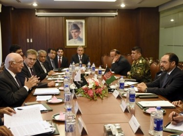 Afghan officials in Pakistan August 13, 2015 discussing reviving suspended peace talks with the Afghan Taliban, days after Taliban attacks killed dozens of people in Kabul