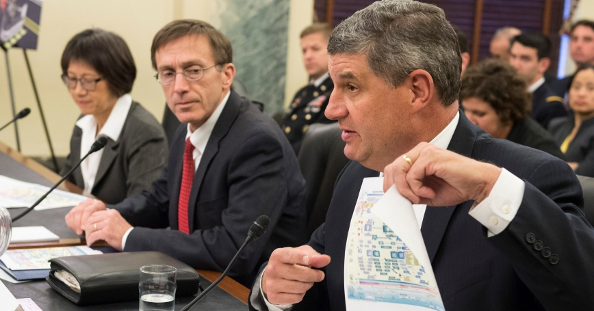 William LaPlante, assistant secretary of Air Force acquisition, testifies on acquisition reform before the Senate Armed Services Committee, Subcommittee on Readiness and Management Support, April 22, 2015