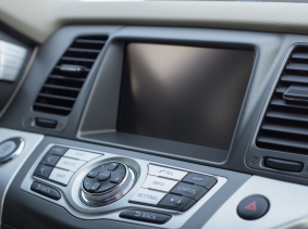 A car dashboard computer