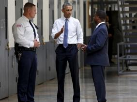 U.S. President Barack Obama tours the El Reno Federal Correctional Institution in El Reno, Oklahoma, July 16, 2015